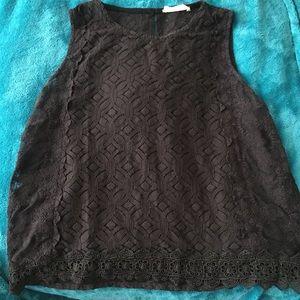 Black Lace Tank